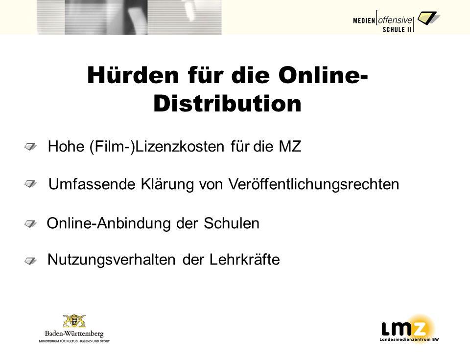 Hürden für die Online-Distribution