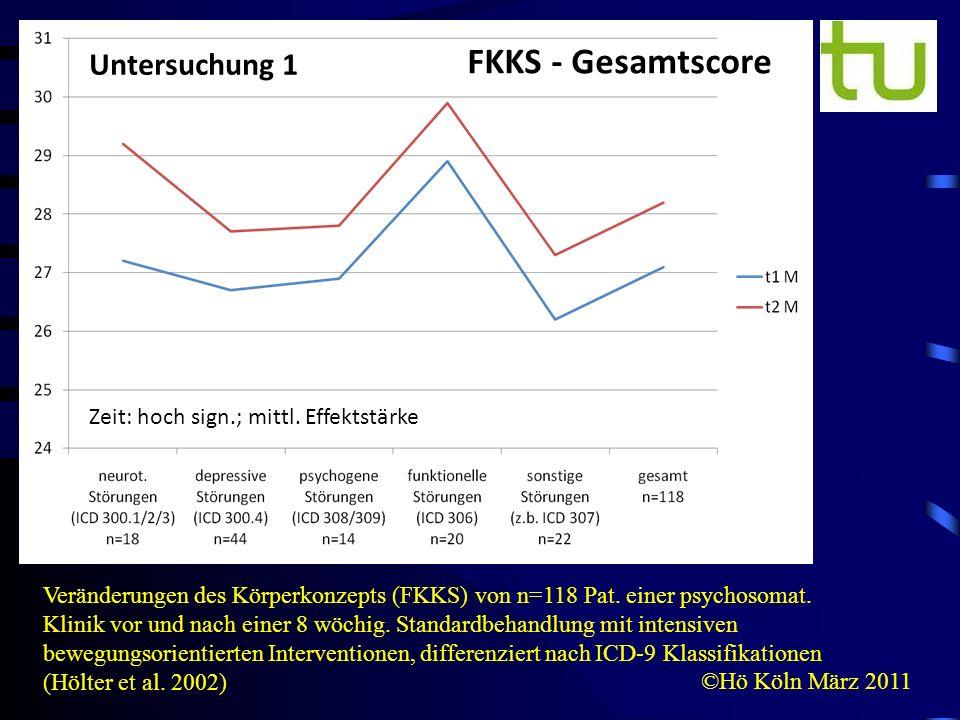FKKS - Gesamtscore Untersuchung 1