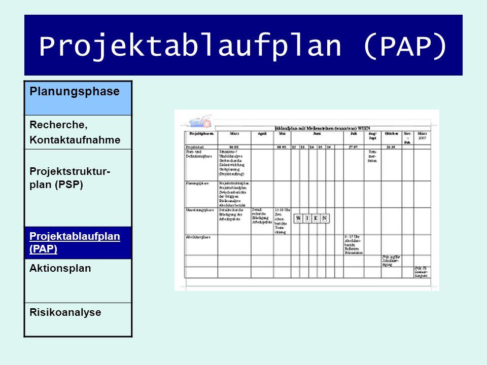 Projektablaufplan (PAP)
