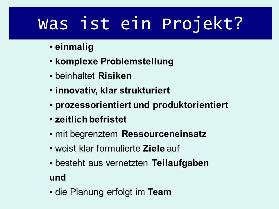 Was ist ein Projekt einmalig komplexe Problemstellung