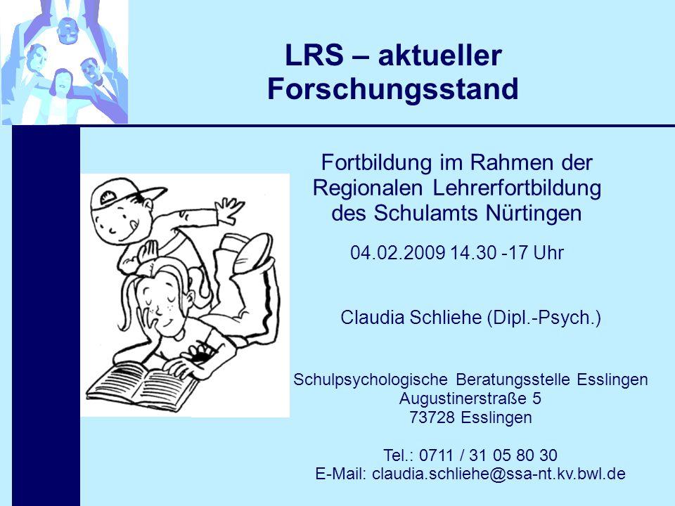 LRS – aktueller Forschungsstand