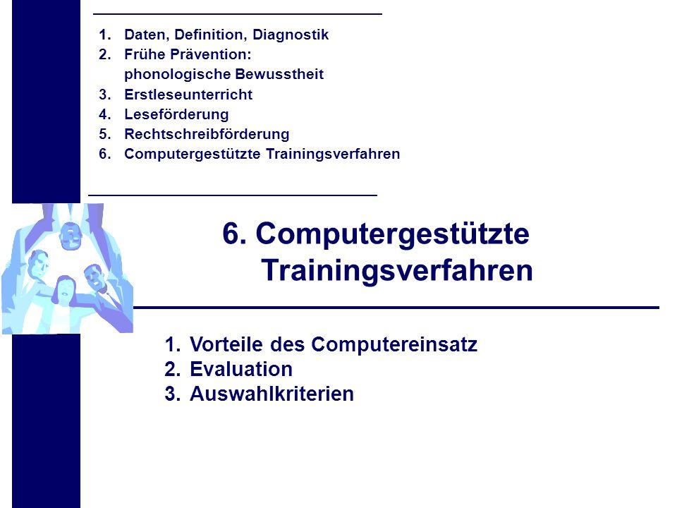 6. Computergestützte Trainingsverfahren
