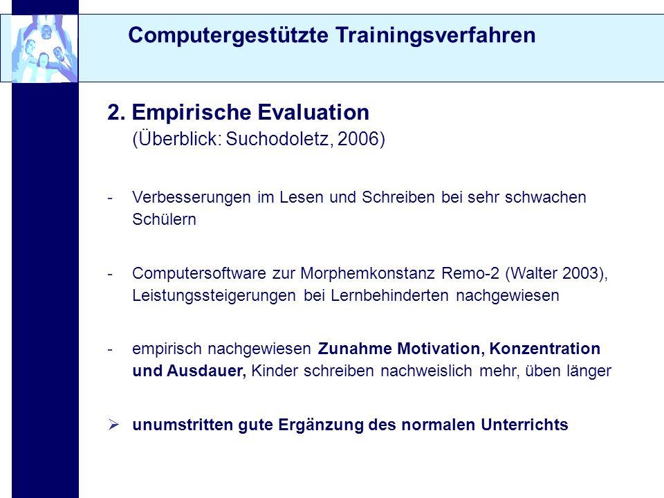 Computergestützte Trainingsverfahren
