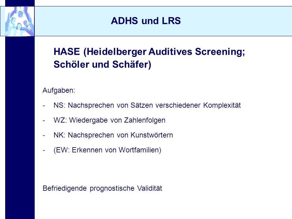 HASE (Heidelberger Auditives Screening; Schöler und Schäfer)