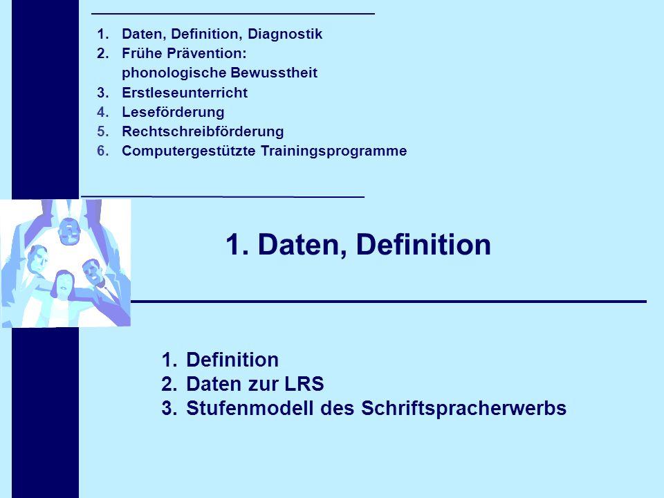 1. Daten, Definition Definition Daten zur LRS
