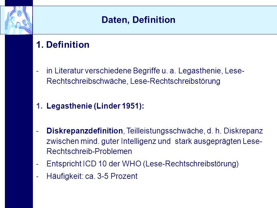 Daten, Definition 1. Definition