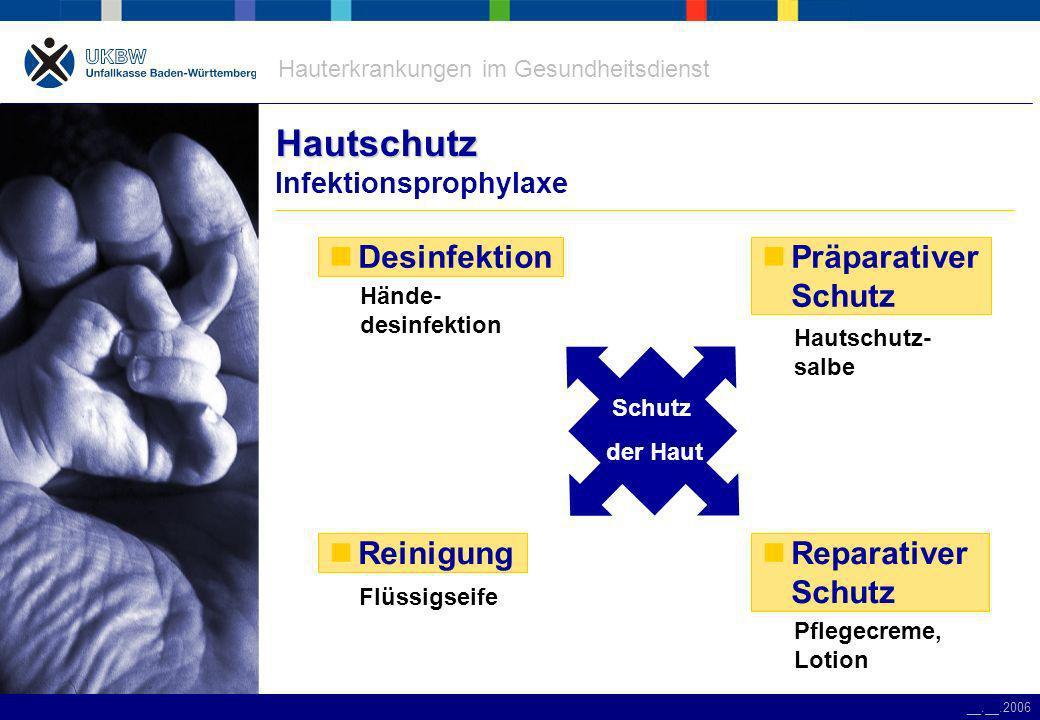 Hautschutz Infektionsprophylaxe