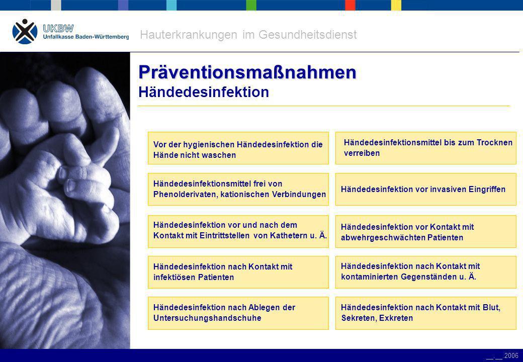 Präventionsmaßnahmen Händedesinfektion