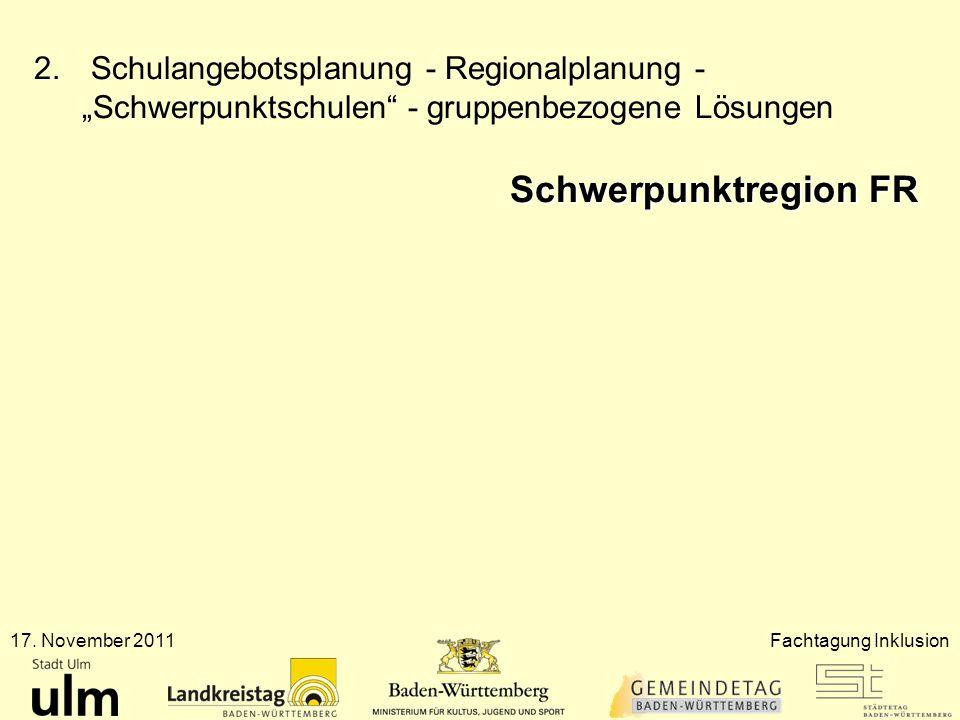 """Schulangebotsplanung - Regionalplanung - """"Schwerpunktschulen - gruppenbezogene Lösungen"""