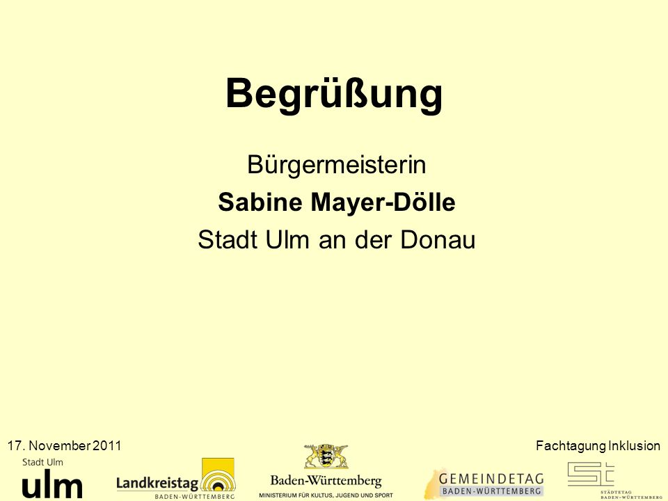 Bürgermeisterin Sabine Mayer-Dölle Stadt Ulm an der Donau