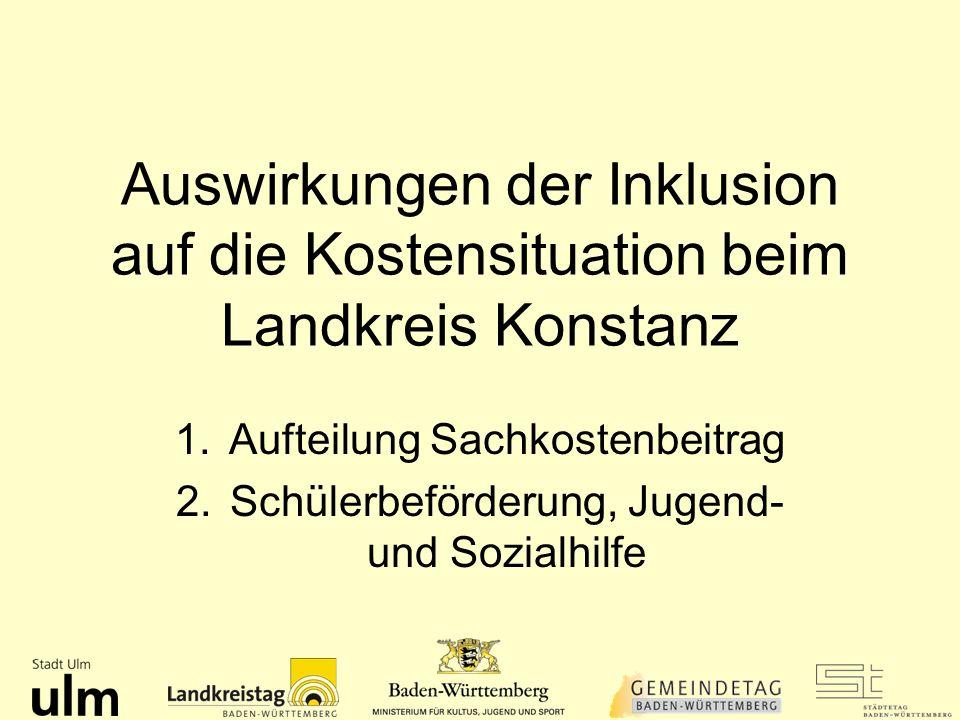 Auswirkungen der Inklusion auf die Kostensituation beim Landkreis Konstanz