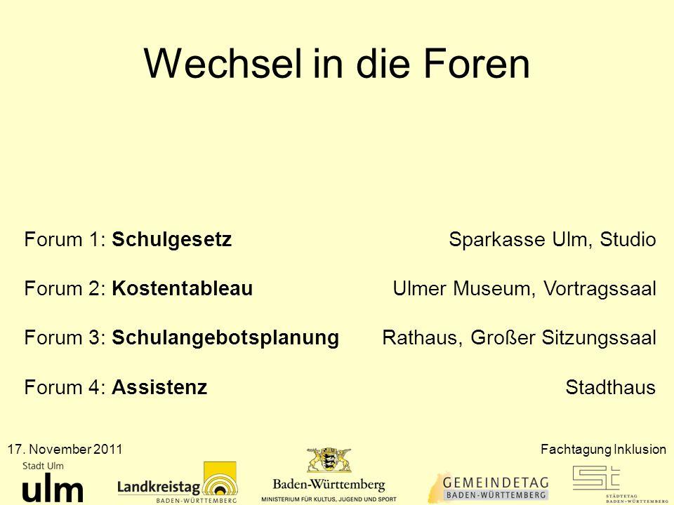 Wechsel in die Foren Forum 1: Schulgesetz Sparkasse Ulm, Studio
