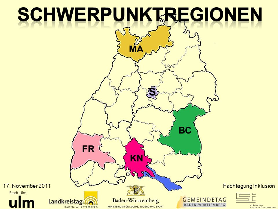 Schwerpunktregionen S MA BC FR KN 17. November 2011