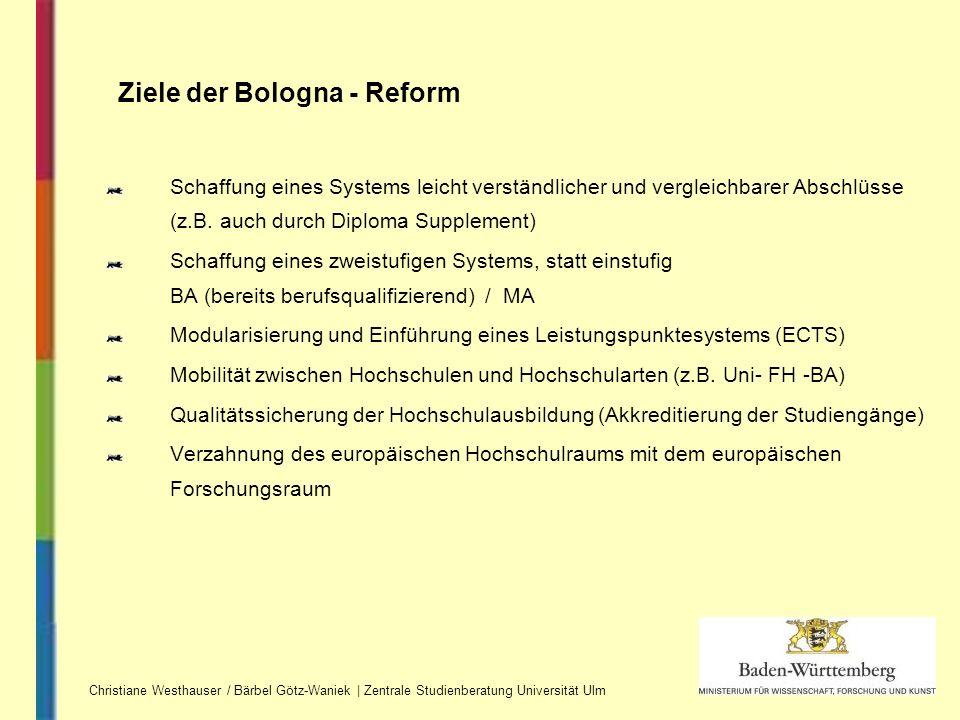 Ziele der Bologna - Reform