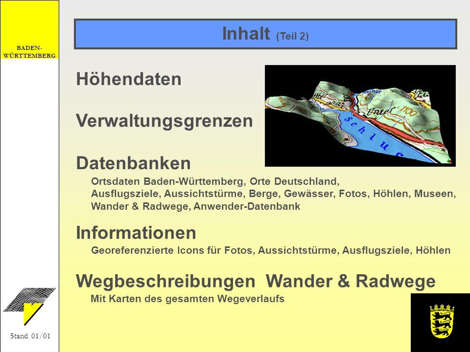 Wegbeschreibungen Wander & Radwege