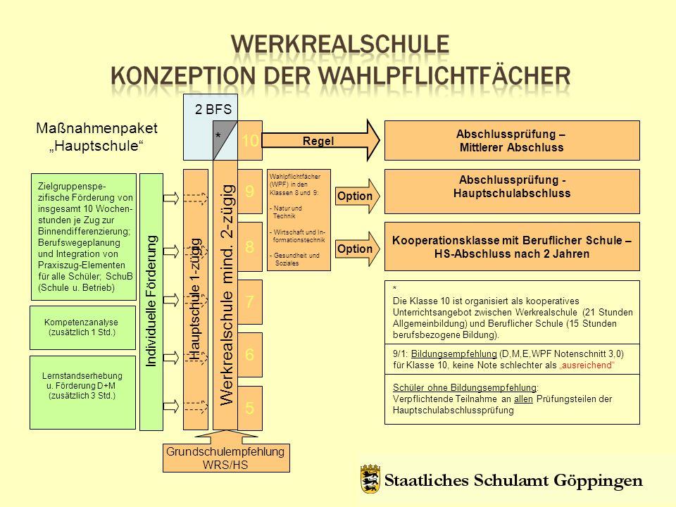 Kooperationsklasse mit Beruflicher Schule – HS-Abschluss nach 2 Jahren