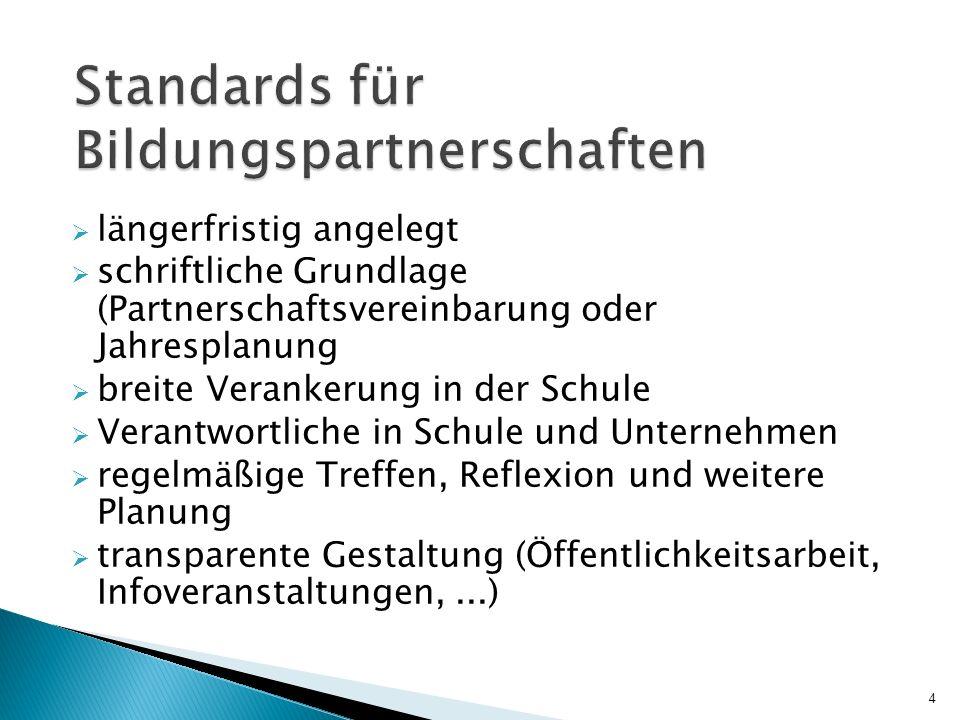 Standards für Bildungspartnerschaften