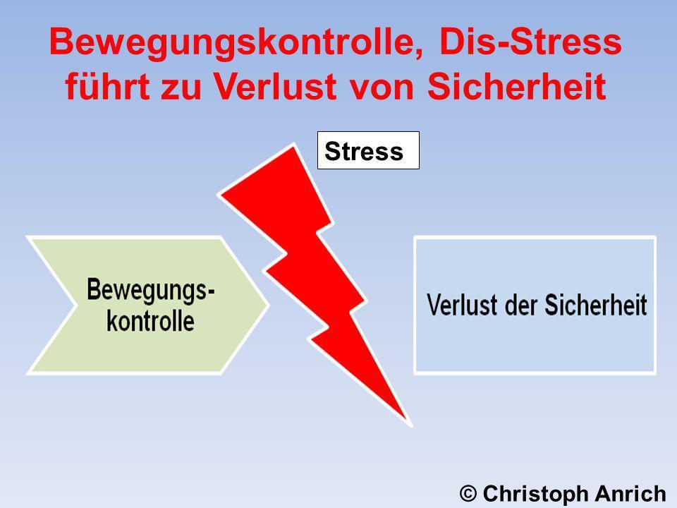 Bewegungskontrolle, Dis-Stress führt zu Verlust von Sicherheit