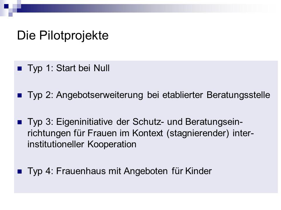 Die Pilotprojekte Typ 1: Start bei Null