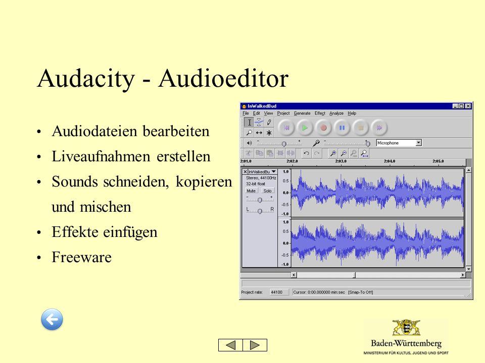 Audacity - Audioeditor