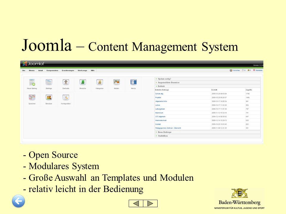 Joomla – Content Management System