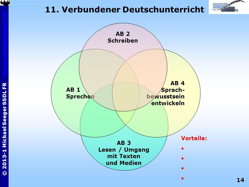 11. Verbundener Deutschunterricht