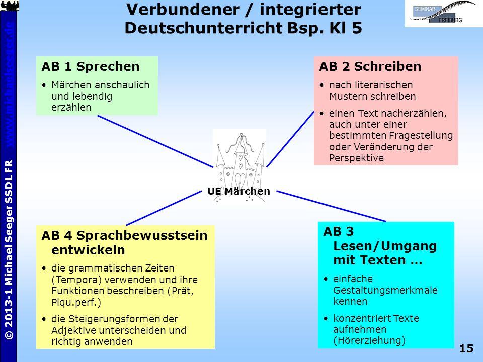 Verbundener / integrierter Deutschunterricht Bsp. Kl 5