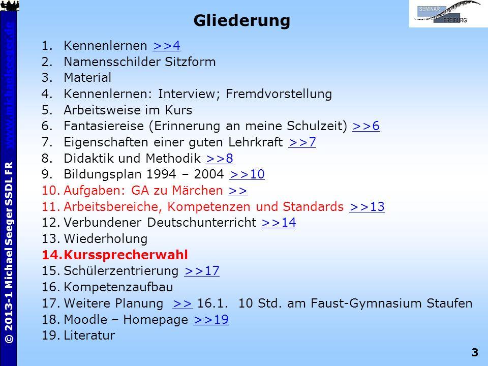 Gliederung Kennenlernen >>4 Namensschilder Sitzform Material
