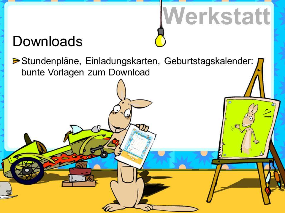 Werkstatt Downloads.