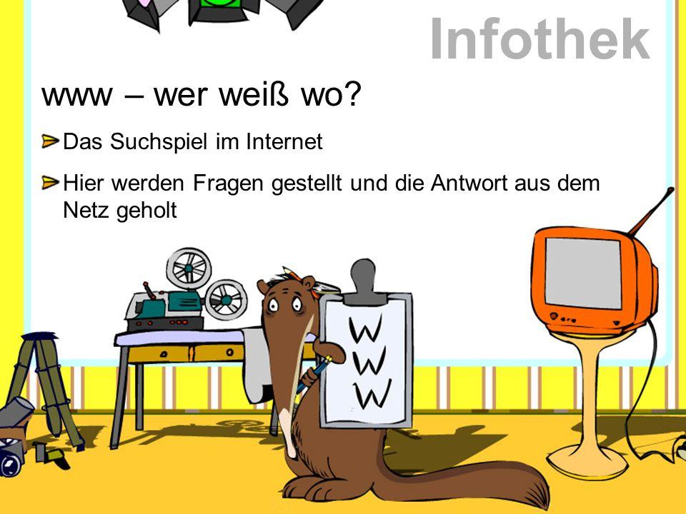 Infothek www – wer weiß wo Das Suchspiel im Internet