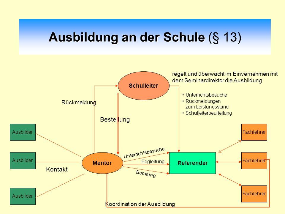 Ausbildung an der Schule (§ 13)