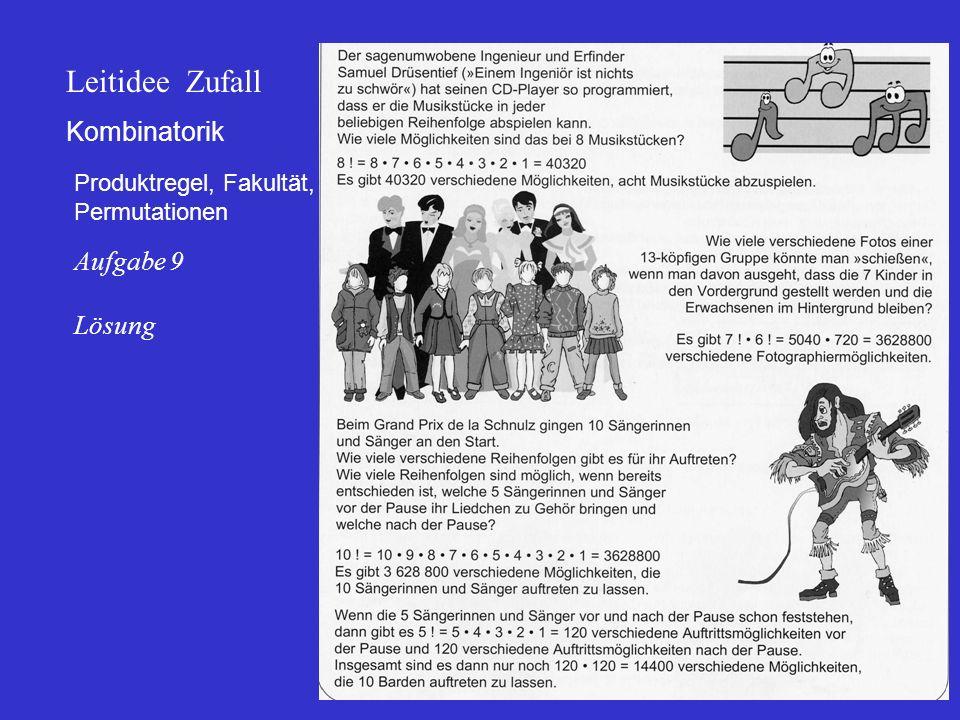 Leitidee Zufall Kombinatorik Aufgabe 9 Lösung