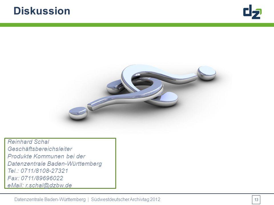 Diskussion Reinhard Schal Geschäftsbereichsleiter