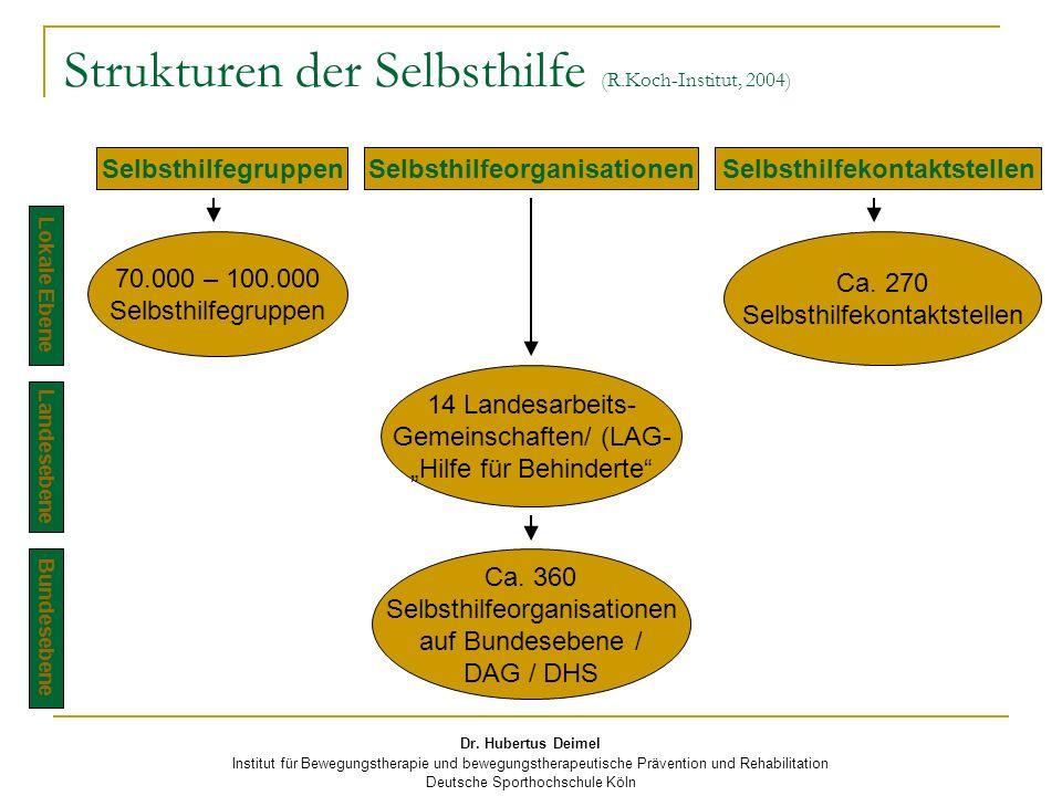 Strukturen der Selbsthilfe (R.Koch-Institut, 2004)