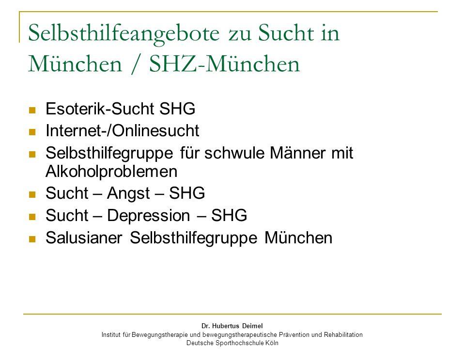 Selbsthilfeangebote zu Sucht in München / SHZ-München