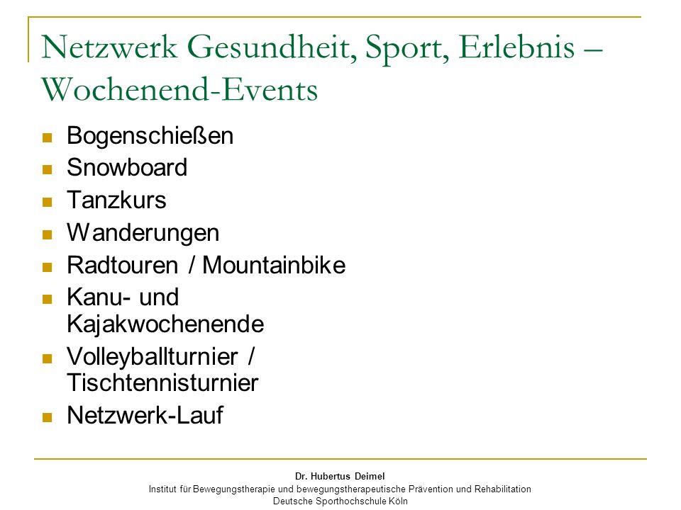 Netzwerk Gesundheit, Sport, Erlebnis – Wochenend-Events