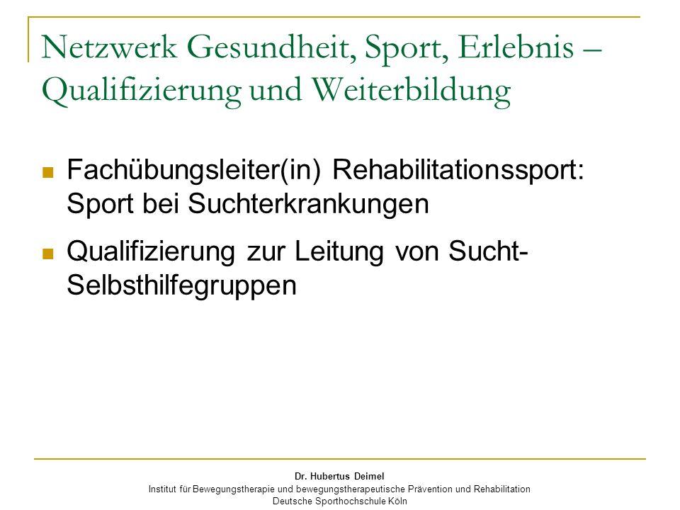 Netzwerk Gesundheit, Sport, Erlebnis – Qualifizierung und Weiterbildung