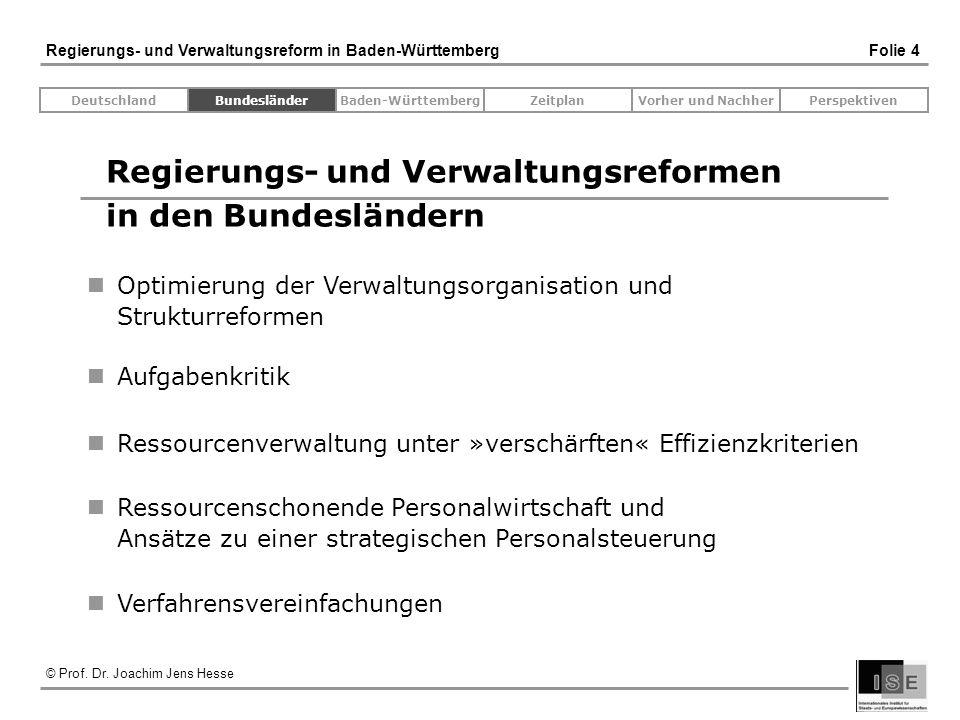 Regierungs- und Verwaltungsreformen in den Bundesländern