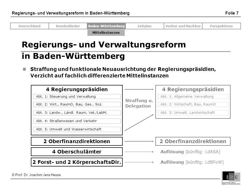 Regierungs- und Verwaltungsreform in Baden-Württemberg