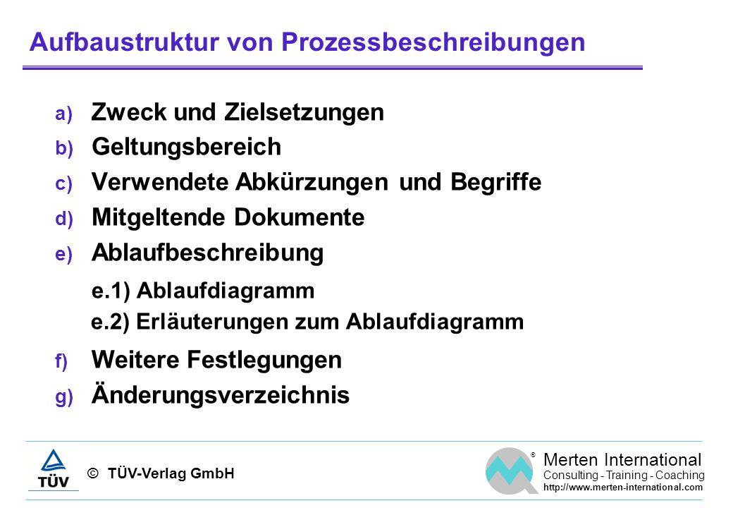 Aufbaustruktur von Prozessbeschreibungen