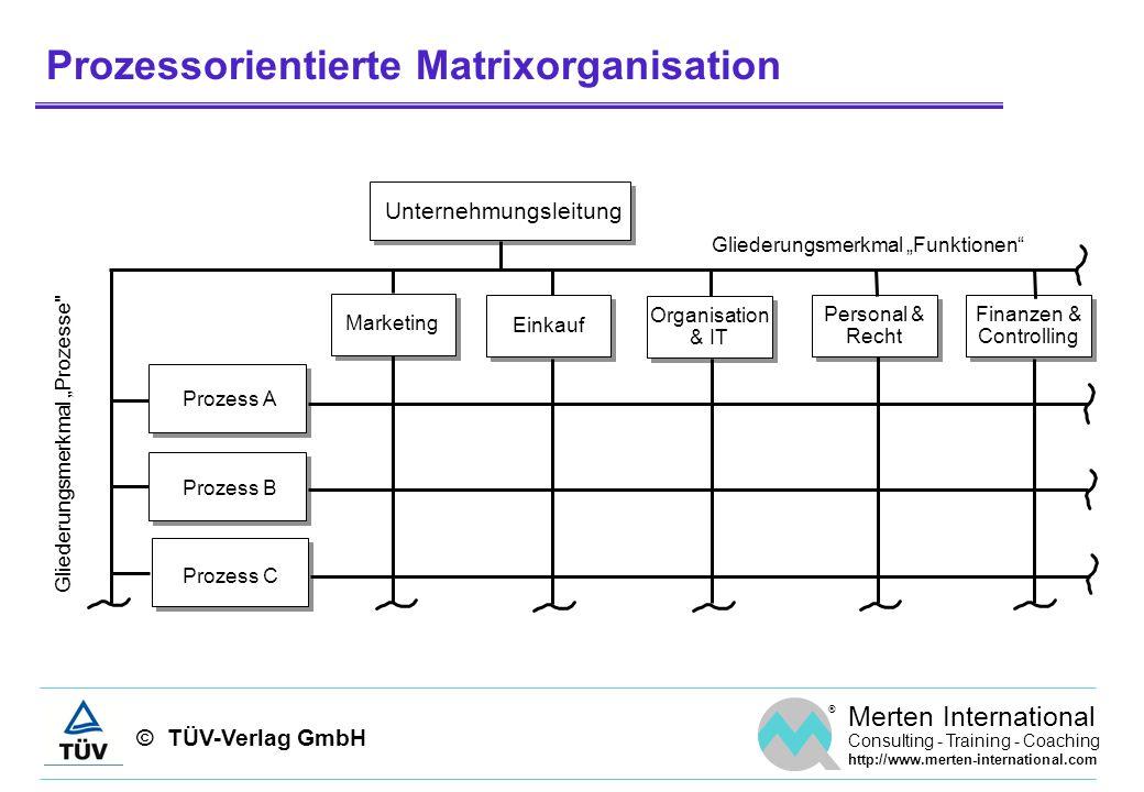 Prozessorientierte Matrixorganisation