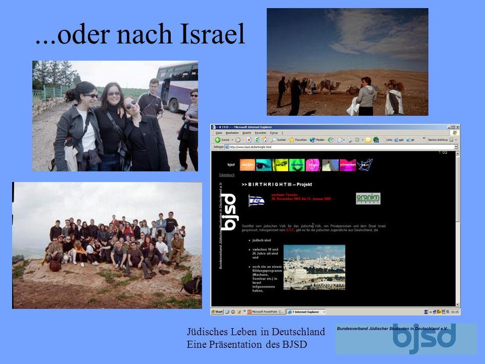 ...oder nach Israel