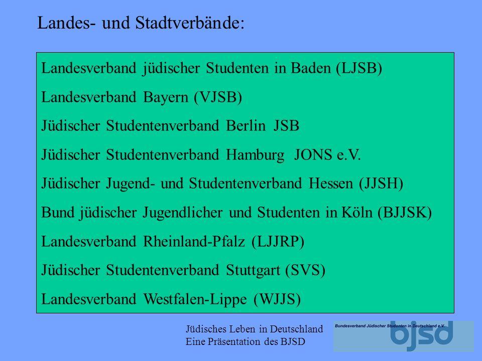 Landes- und Stadtverbände: