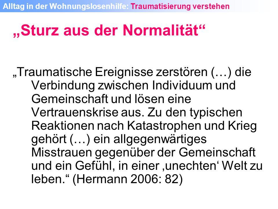 """""""Sturz aus der Normalität"""