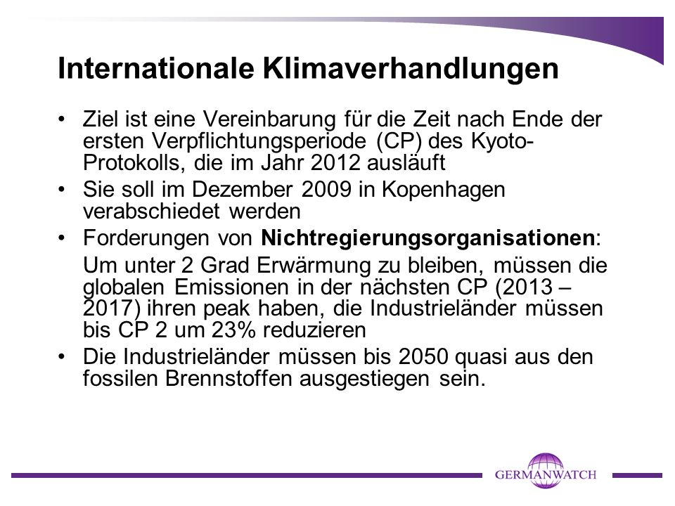 Internationale Klimaverhandlungen