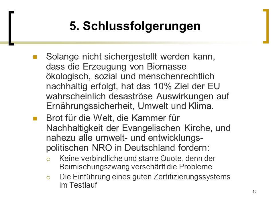 5. Schlussfolgerungen