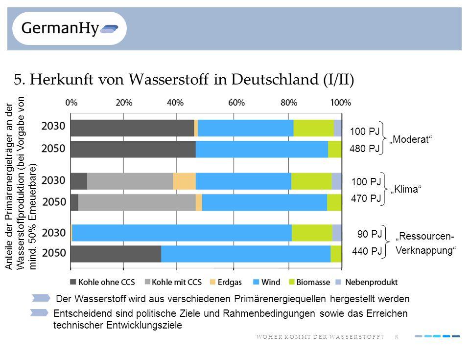 5. Herkunft von Wasserstoff in Deutschland (I/II)