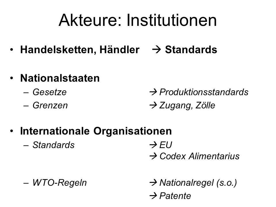 Akteure: Institutionen