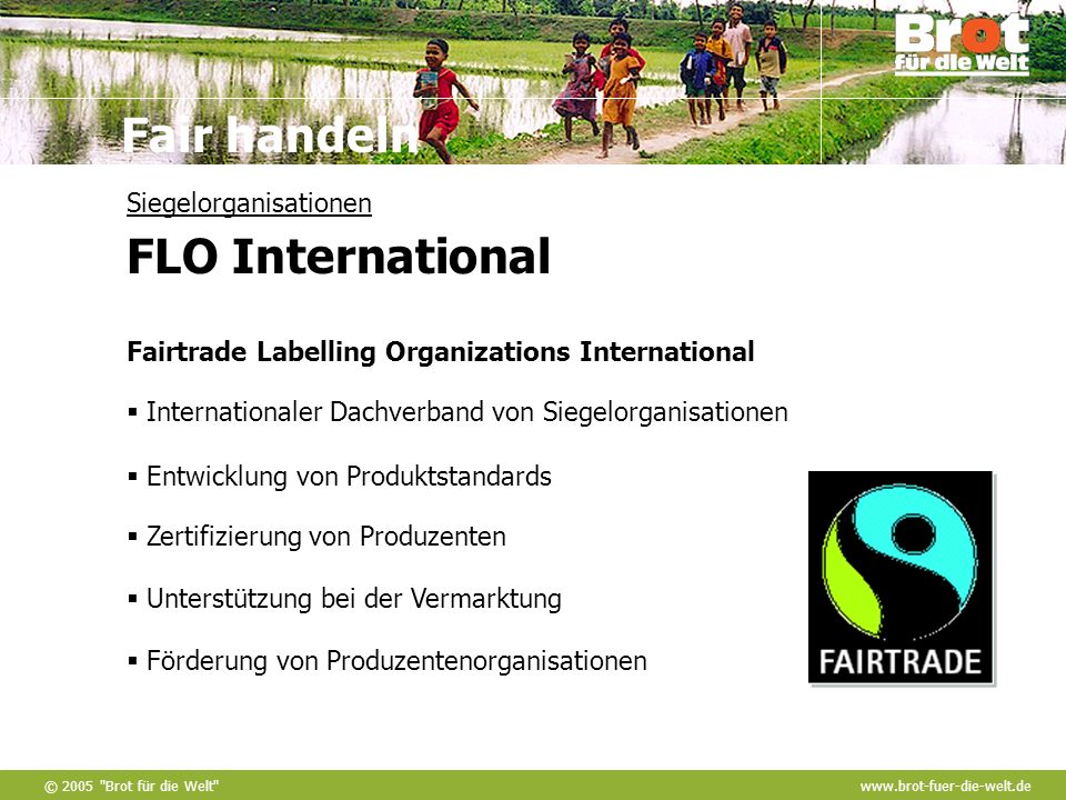 Siegelorganisationen FLO International