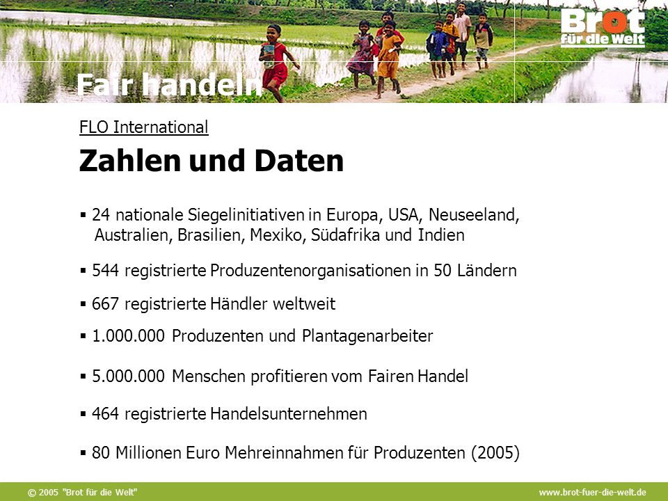 FLO International Zahlen und Daten